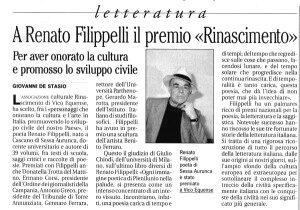 CARMEN MOSCARIELLO, Renato Filippelli. Nove anni dalla sua morte. Un cammino in poesia e in  preghiera